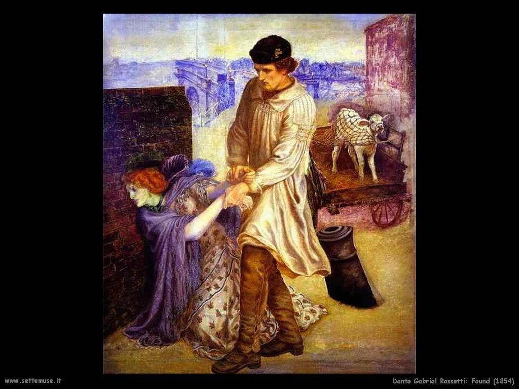 Dante Gabriel Rossetti Trovata_1854
