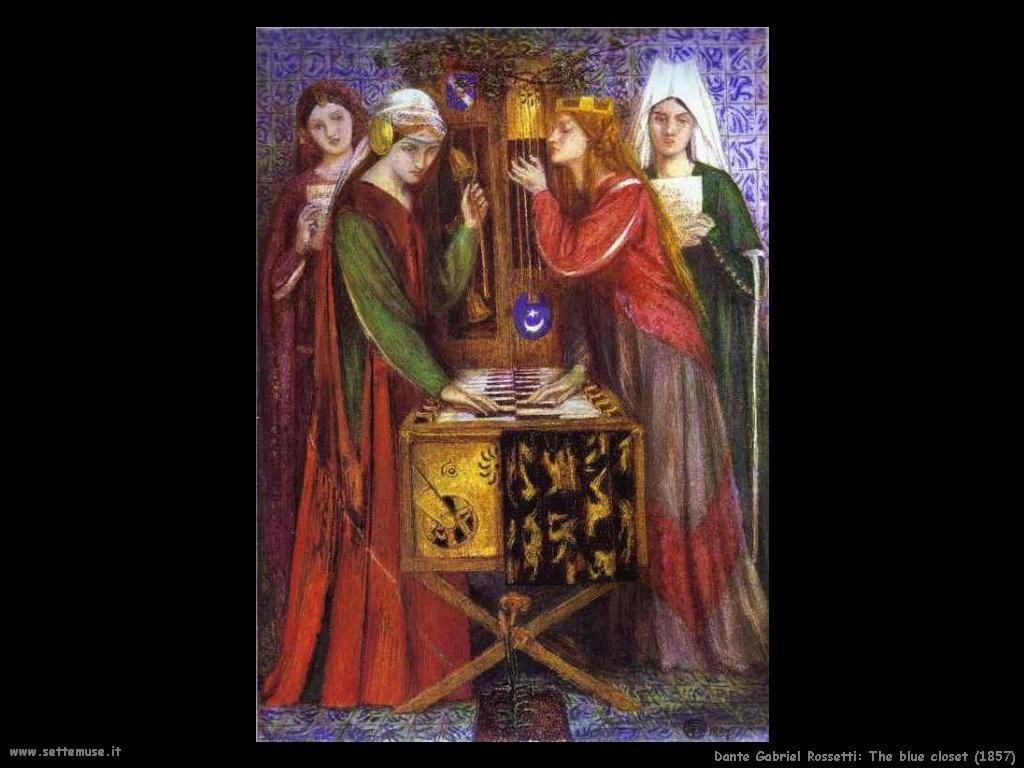 L'armadio blu (1857) Dante Gabriel Rossetti