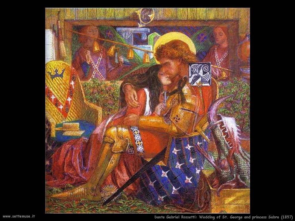 Dante Gabriel Rossetti_Matrimonio di st Giorgio e la Principessa SAbra