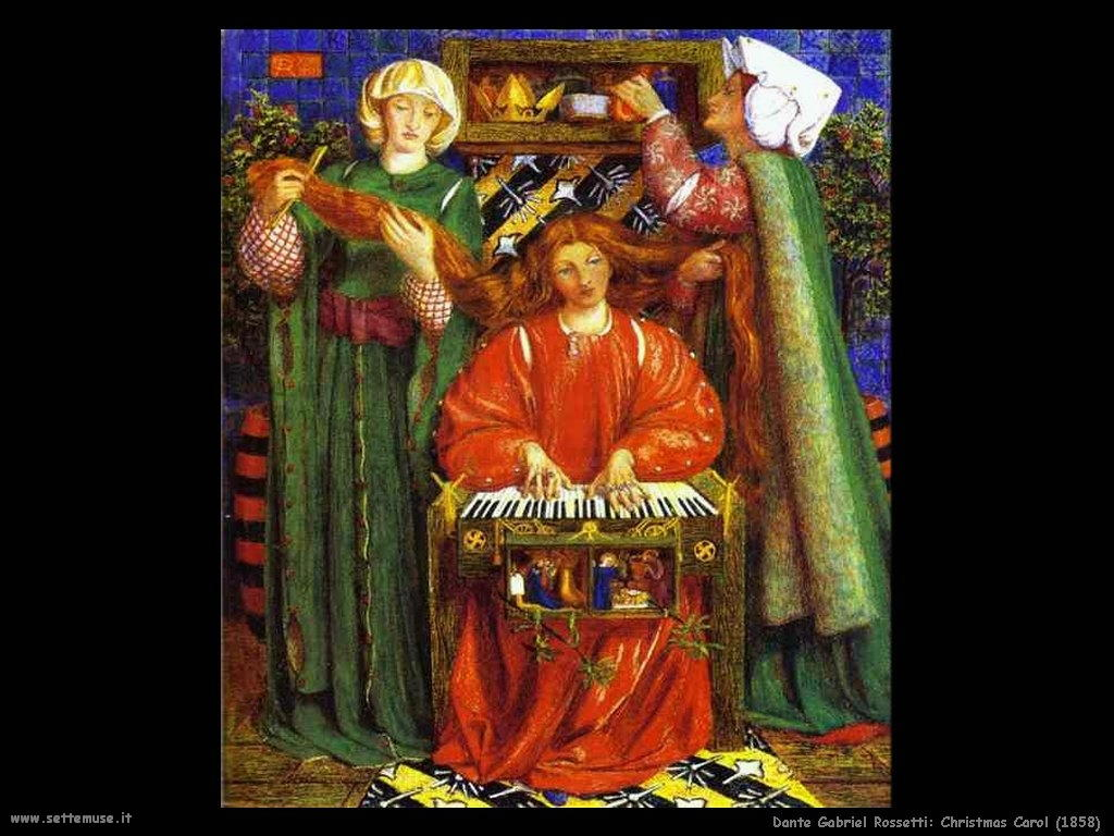 Canto di Natale (1858) Dante Gabriel Rossetti
