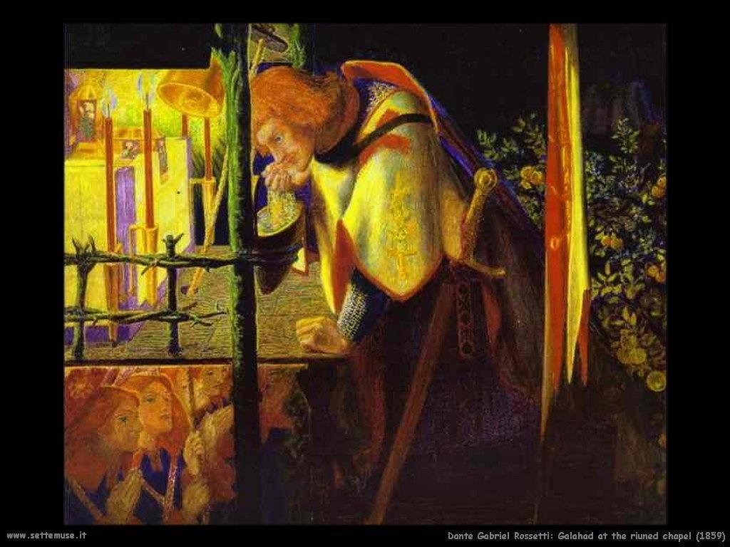 Sir Galahad alla riuned cappellal_1859 Dante Gabriel Rossetti