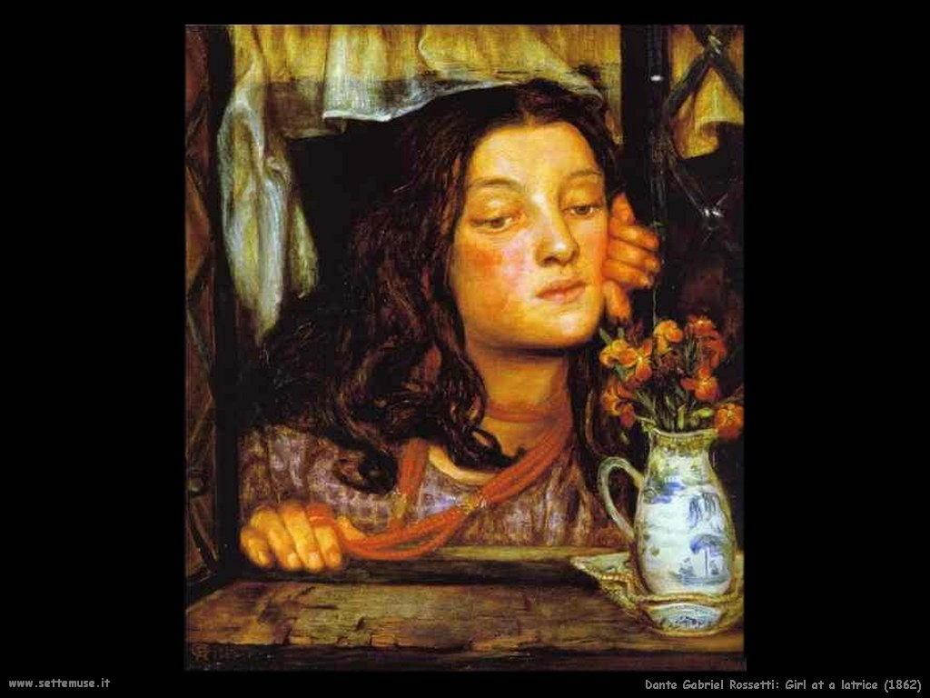 Ragazza in un Latrice (1862) Dante Gabriel Rossetti