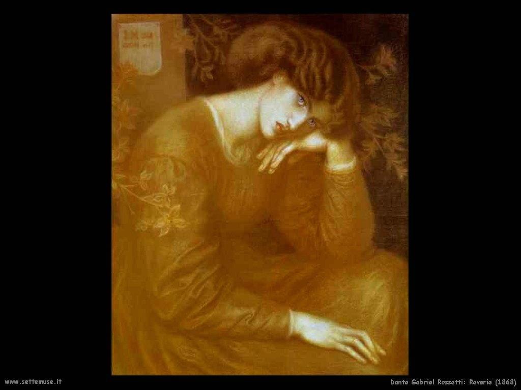 Dante Gabriel Rossetti_reverie_1868