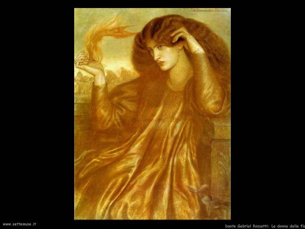 Dante Gabriel Rossetti_la_donna_della_fiamma_1870