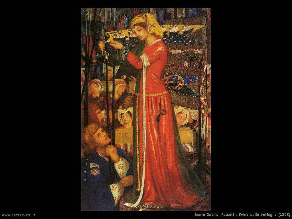 Dante Gabriel Rossetti Prima della Battaglia_1858