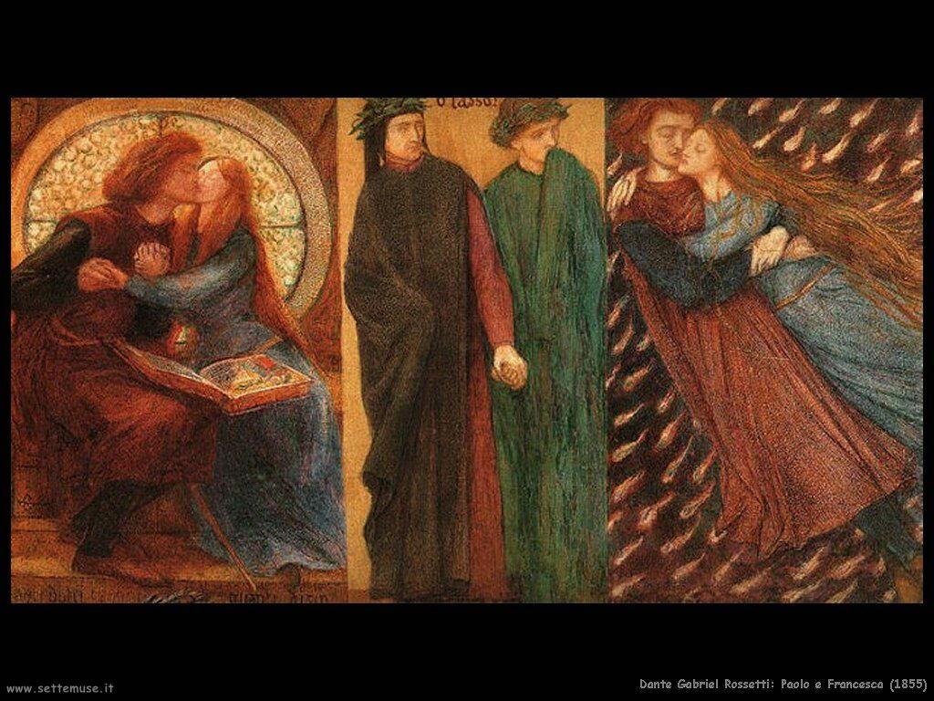 dante_gabriel_rossetti Paolo e Francesca (1855)