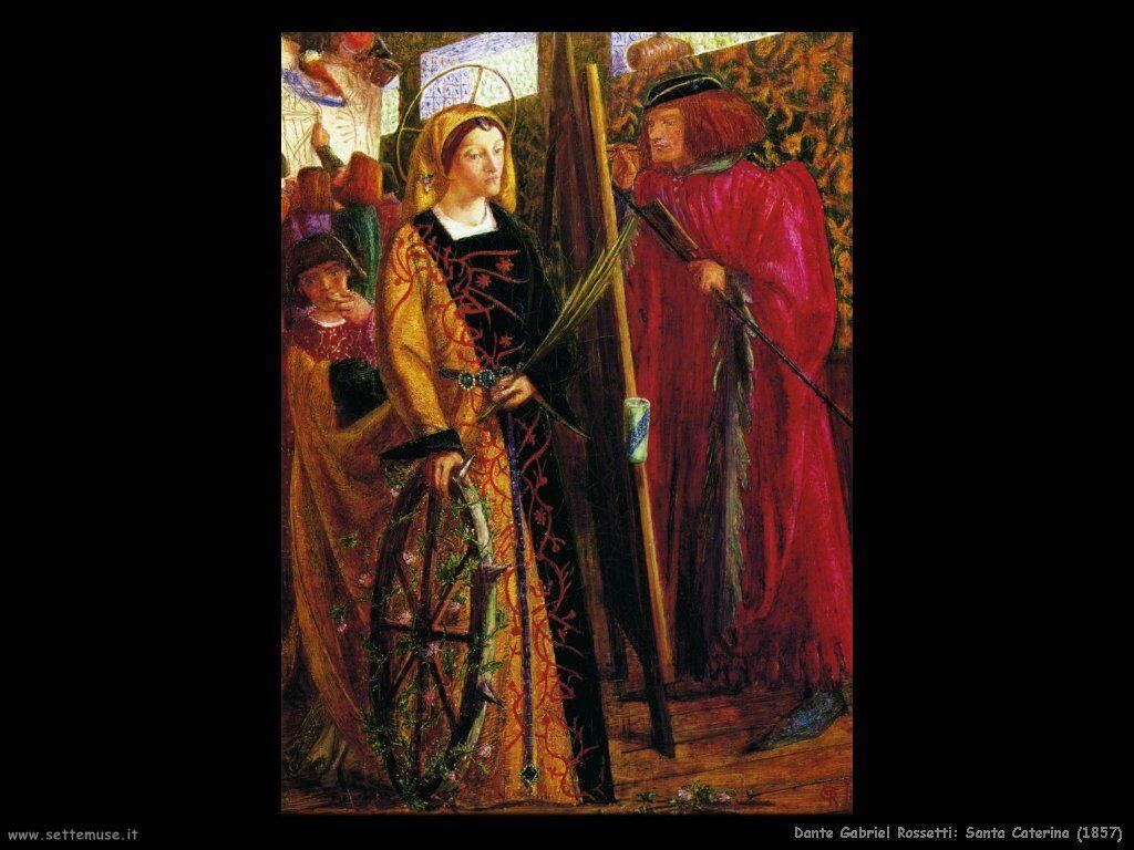 Gabriel Rossetti Santa Caterina (1857)