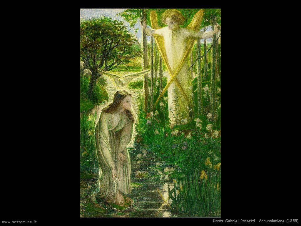 Gabriel Rossetti  Annunciazione (1855)