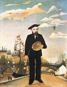 Henri Rousseau il Doganiere Autoritratto 1890