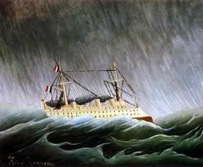 Henri Rousseau il Doganiere - Nave nella tempesta