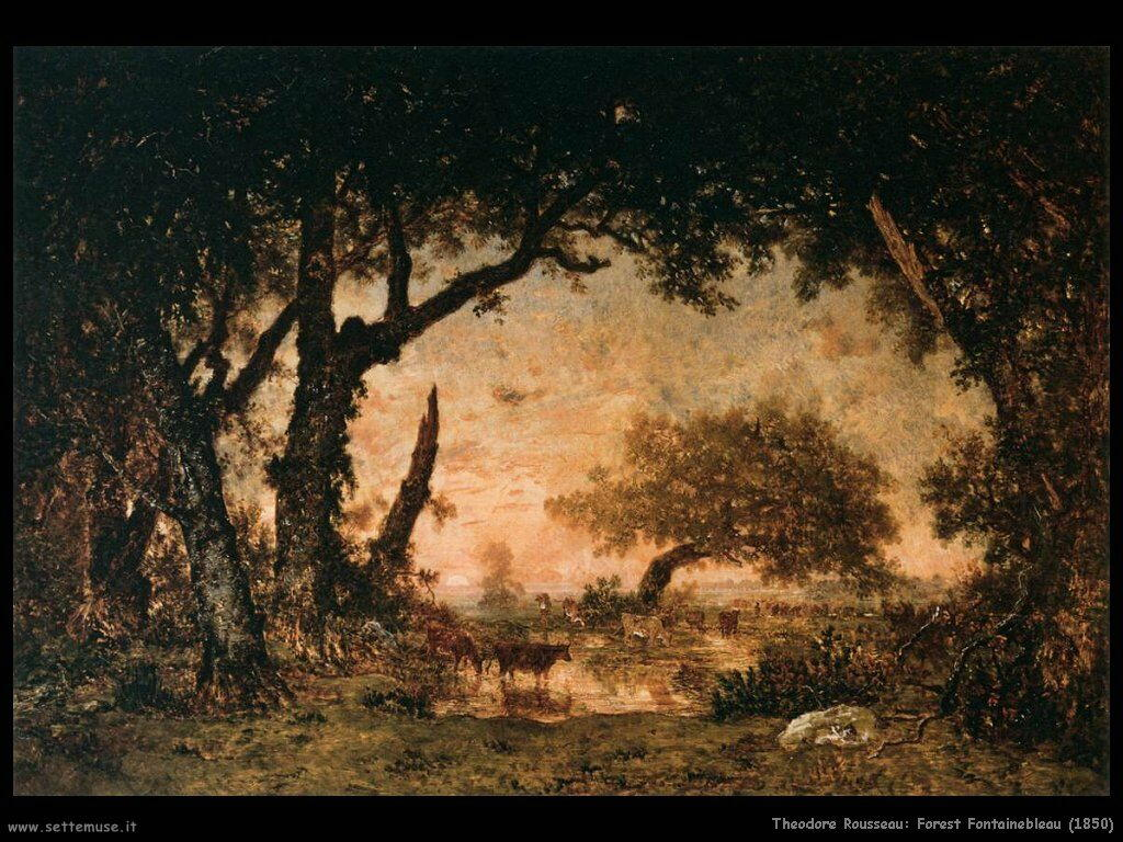 theodore rousseau forest_fontainebleau_1850