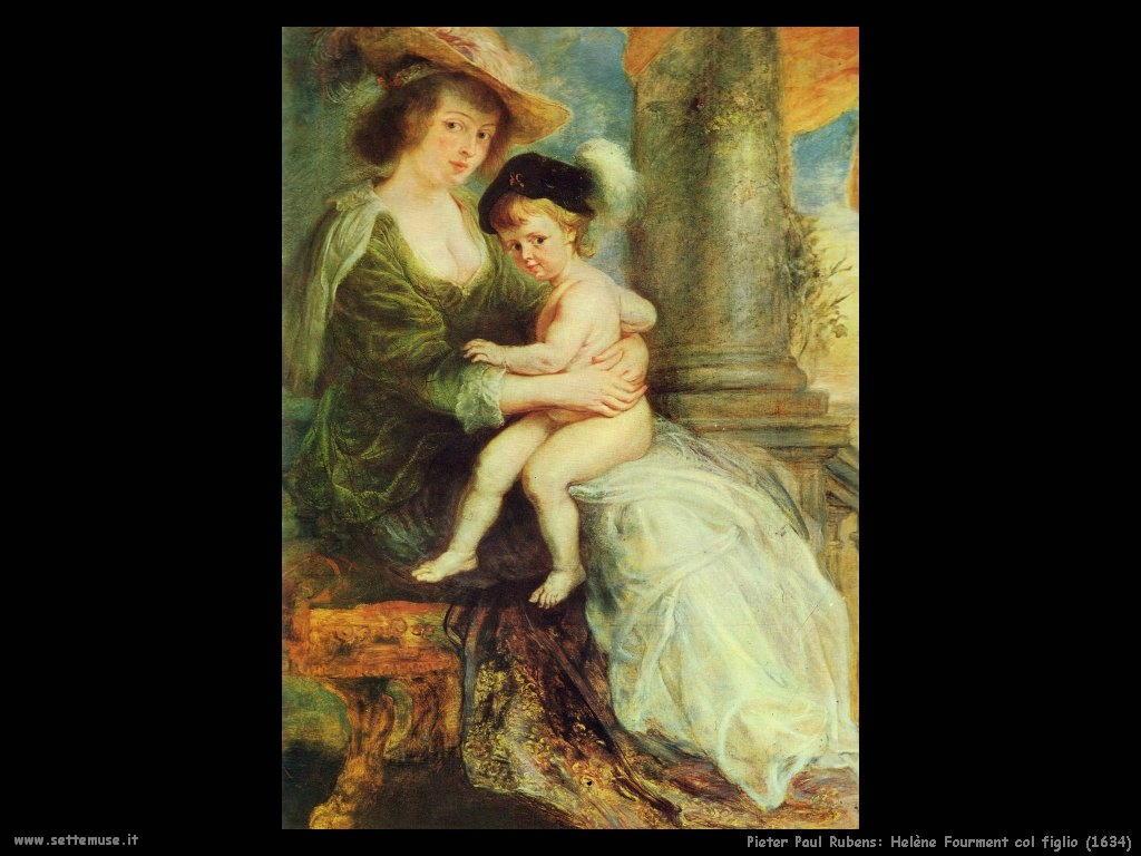 Pieter Paul Rubens_helène_fourment_col_figlio_1634