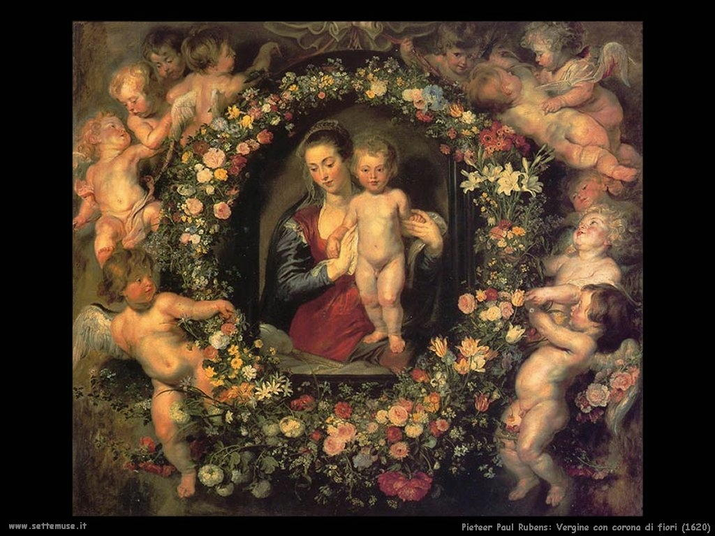 Pieter Paul Rubens_vergine_con_corona_di_fiori_1620