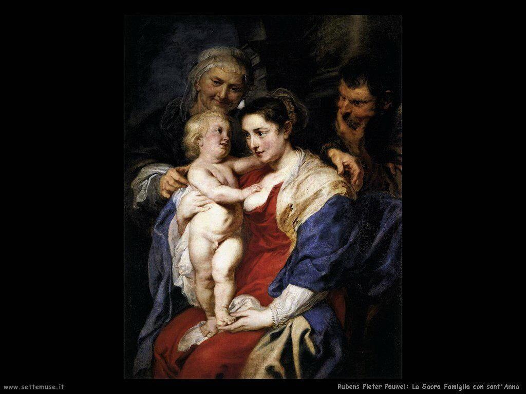 La Sacra Famiglia con sant'Anna