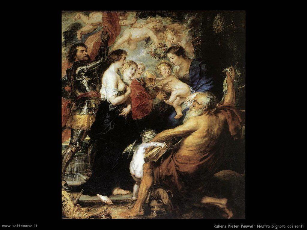 Nostra signora con santi