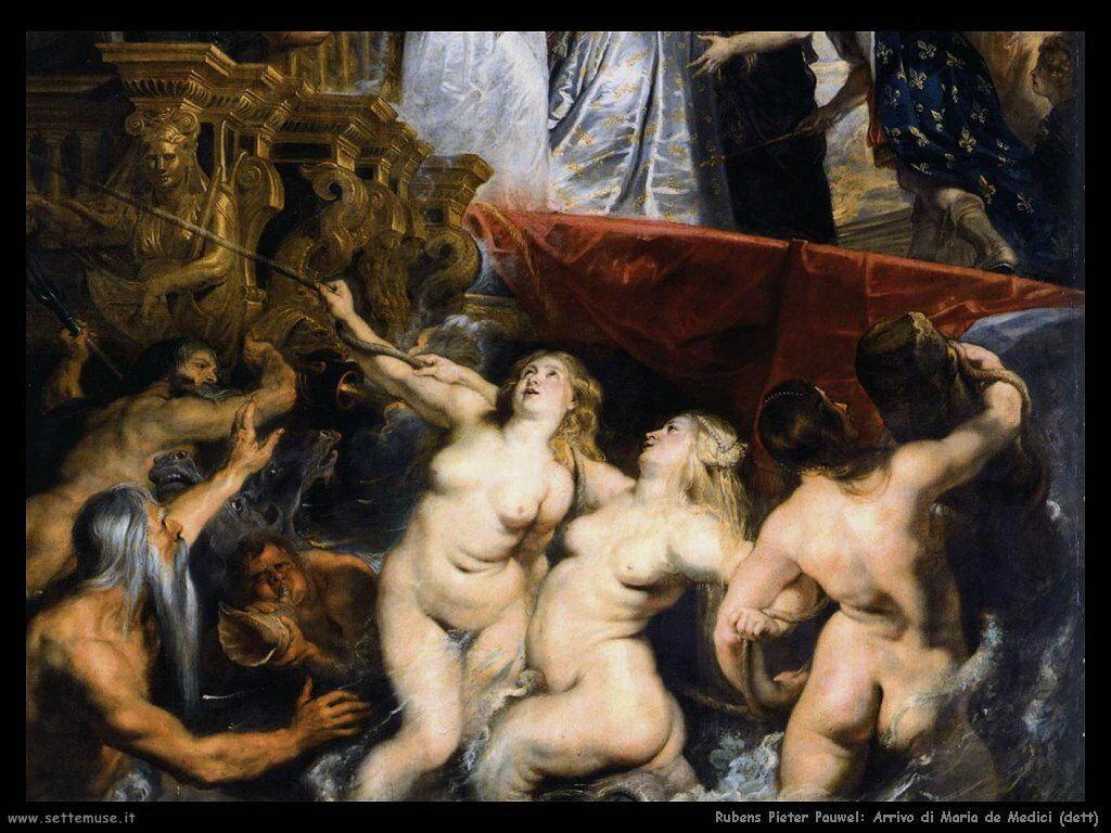 Arrivo di Maria de Medici (dett)