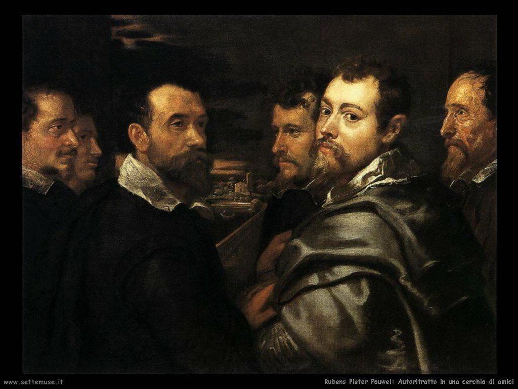 Autoritratto in una cerchia di amici