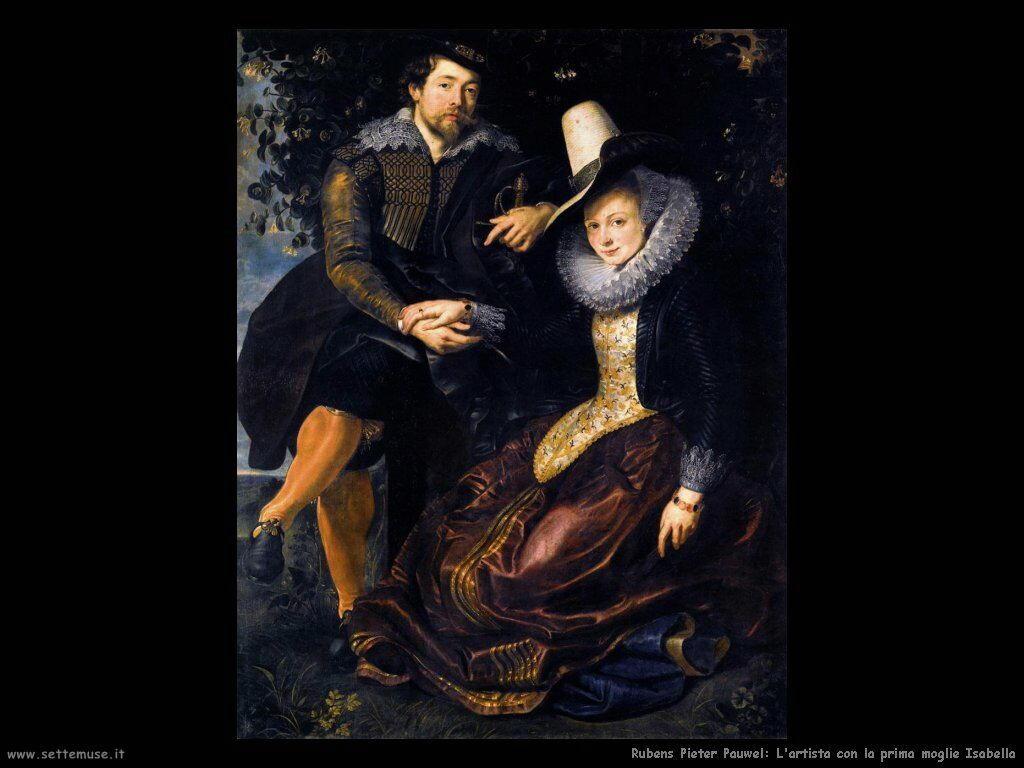 L'artista con la prima moglie Isabella
