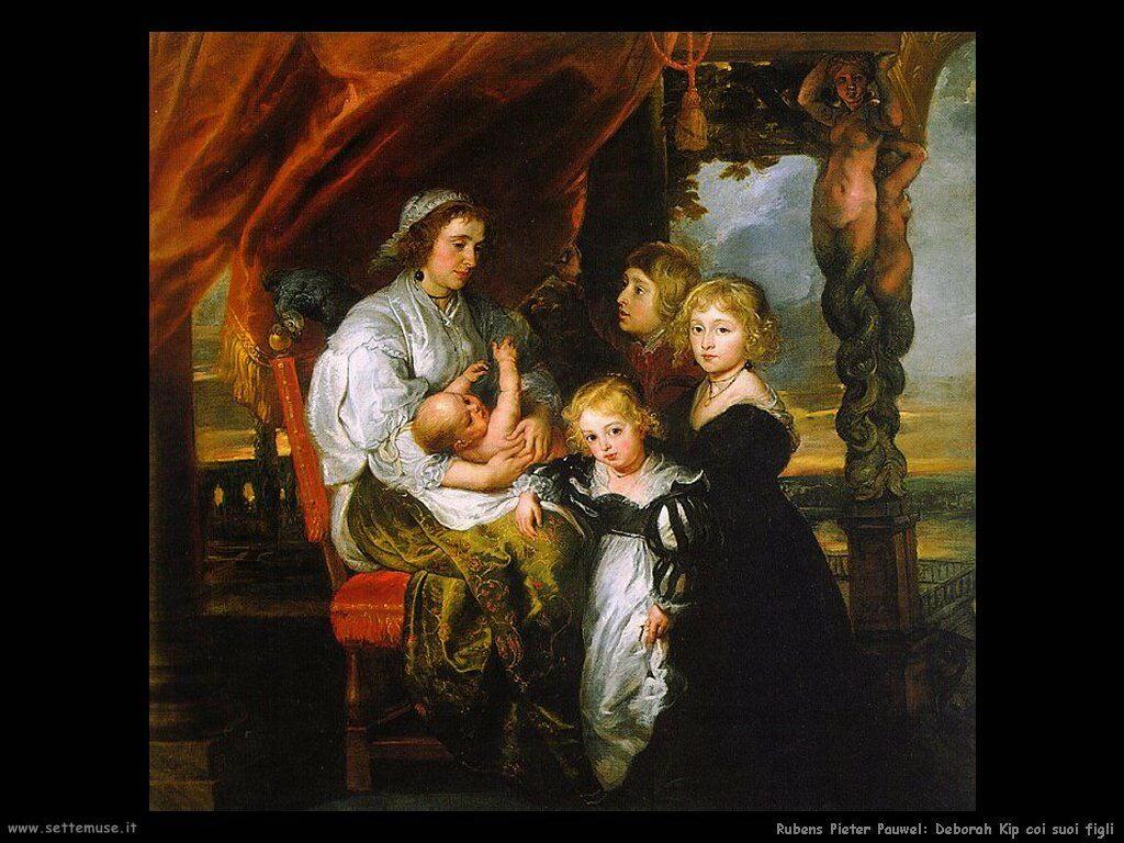 Deborah Kip coi suoi figli