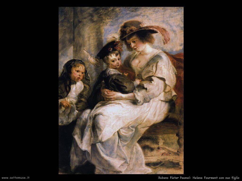 Helena Fourment con suo figlio