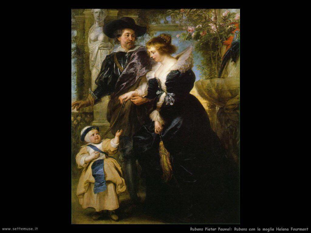 Rubens con la moglie Helena Fourment