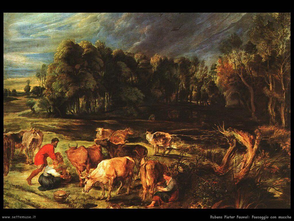 Paesaggio con mucche