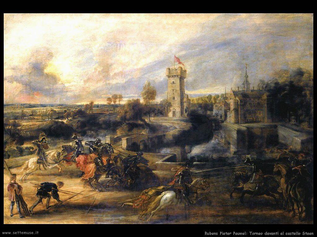 Torneo davanti al castello Steen