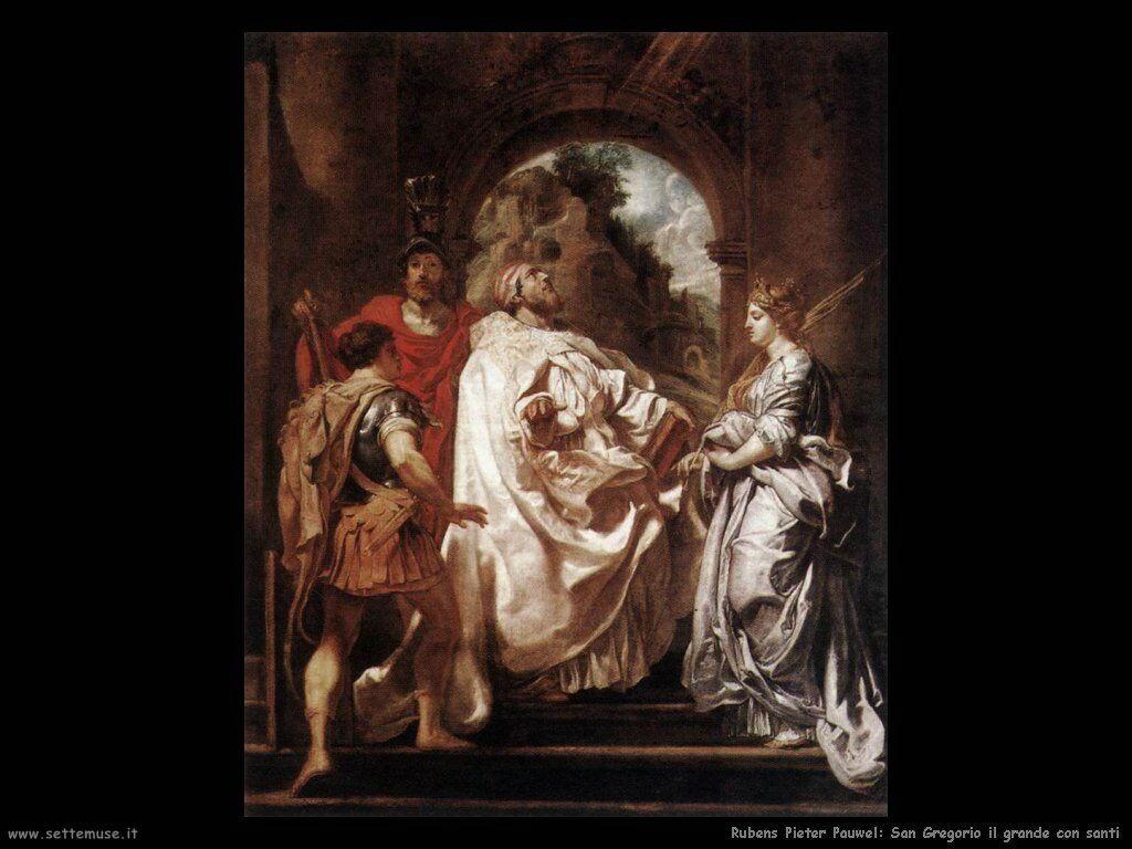 San Gregorio il grande con santi