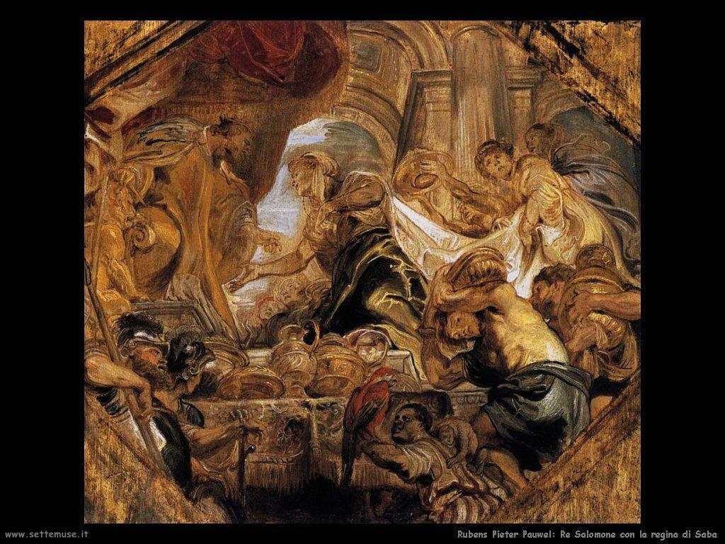 Re Salomone con la regina di Saba