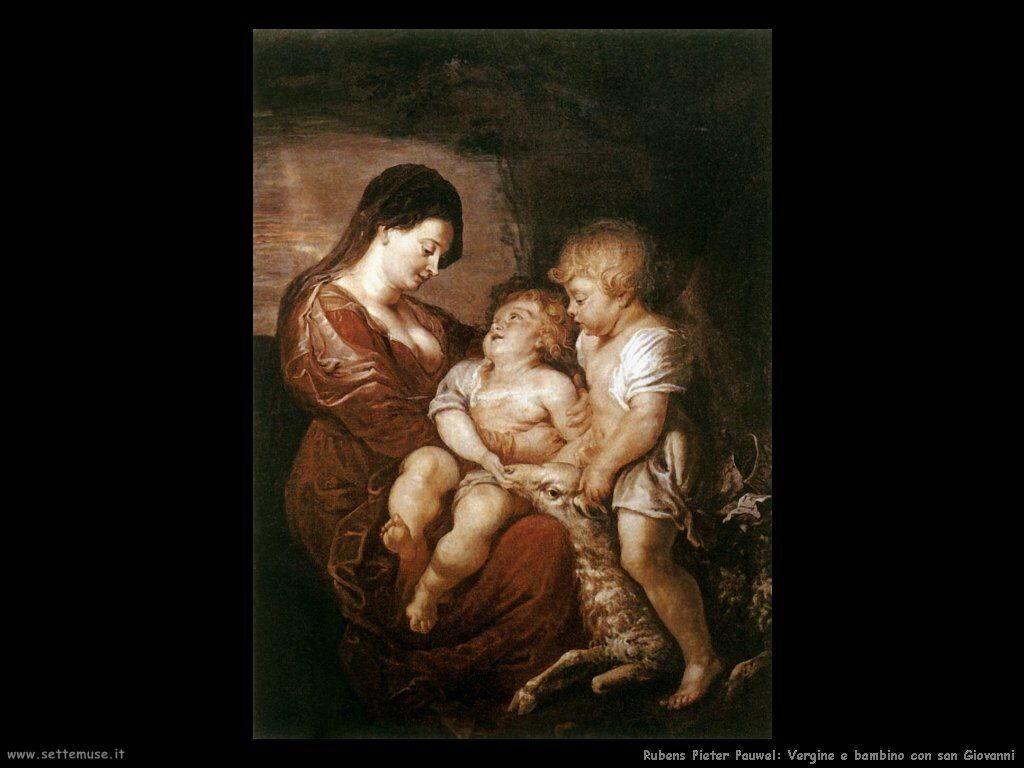 Vergine e bambino con san Giovanni
