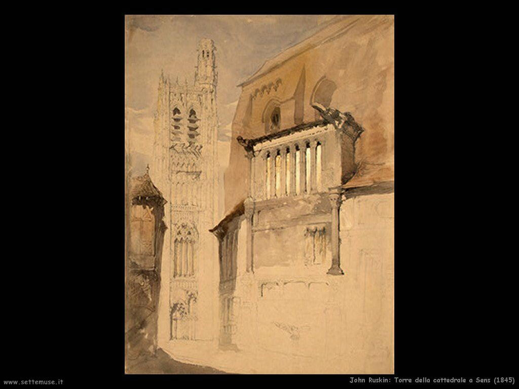 john_ruskin_002_tower_of_the_cathedral_at_sens_1845