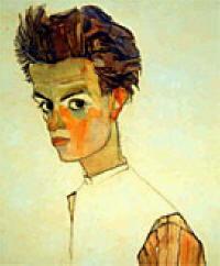 Ritratto di Egon Schiele - autoritratto