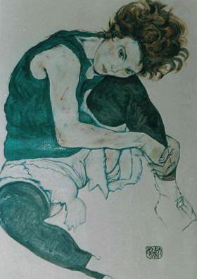 Biografia Egon Schiele - la moglie del pittore 1918