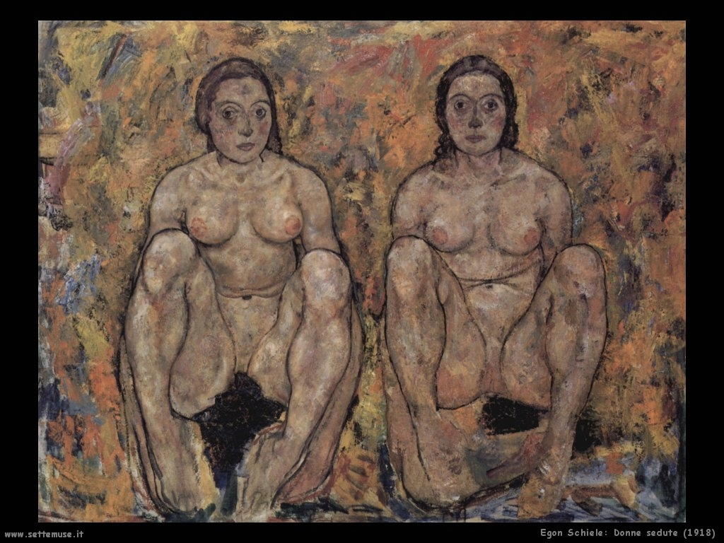 egon schiele donne_nude_sedute_1918