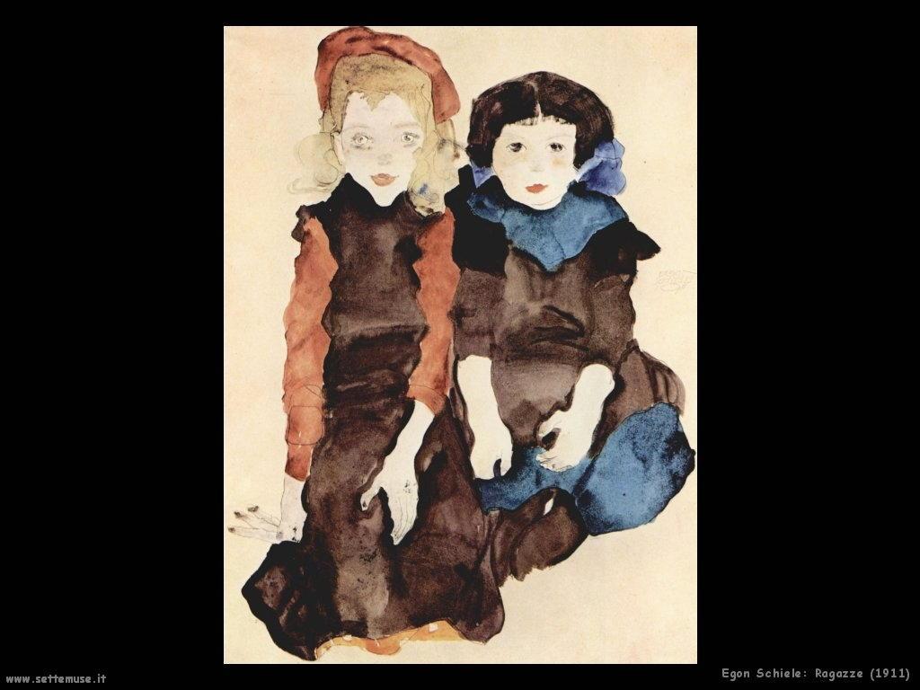 egon schiele ragazze_1911