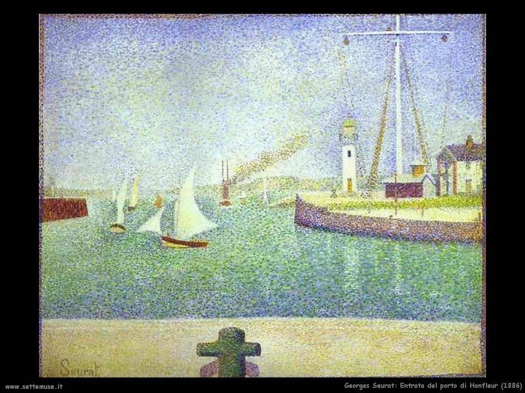 Entrata del porto di Honfleur (1886)