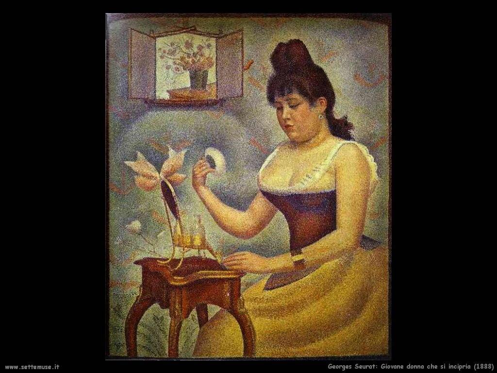 Giovane donna che si incipria (1888)