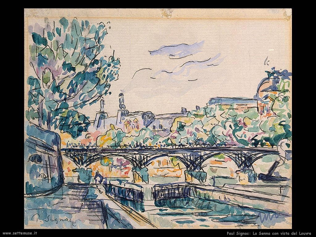 paul_signac_Bank_of _the _Seine_with_a_View of_the_Louvre