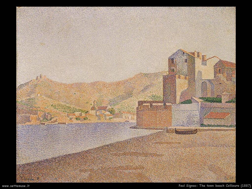 paul signac La spiaggia della città di Collioure