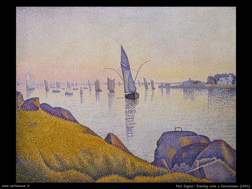 paul signac_Calmo della sera a Concarneau (1891)