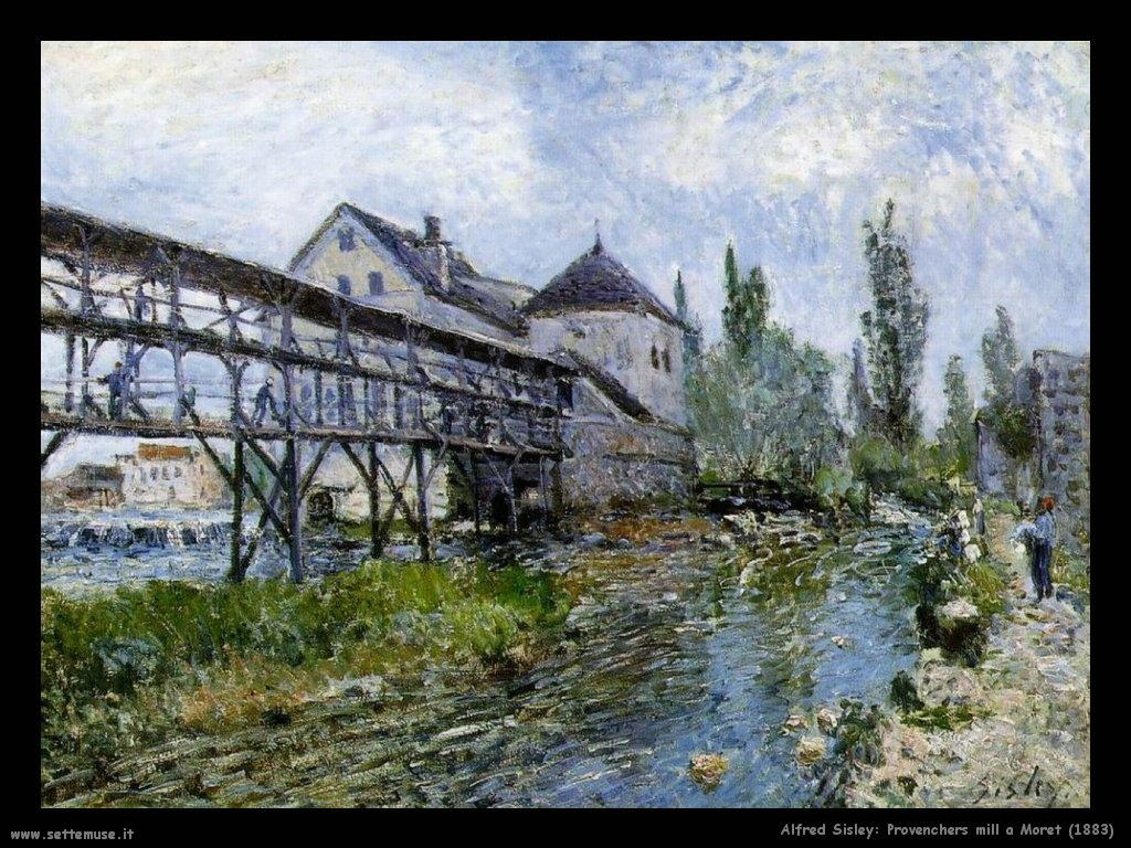 Alfred Sisley_provenchers_mill_a_moret_1883