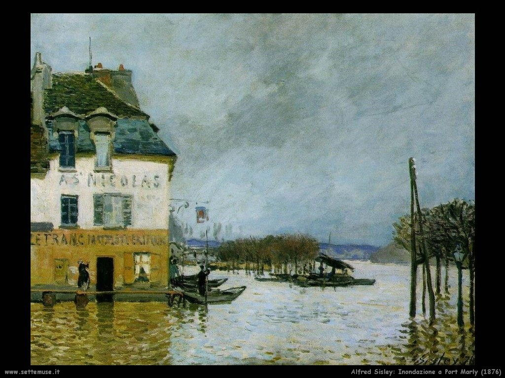 Alfred Sisley_inondazione_port_marly_1876
