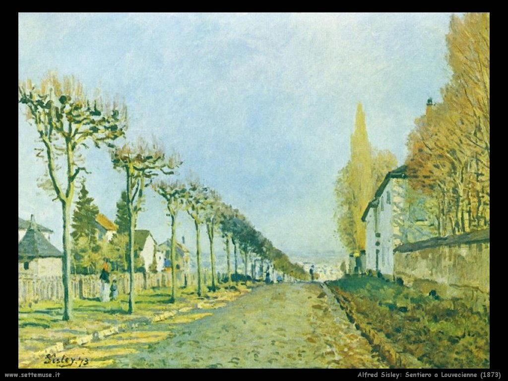 Alfred Sisley_sentiero_a_louvecienne_1873