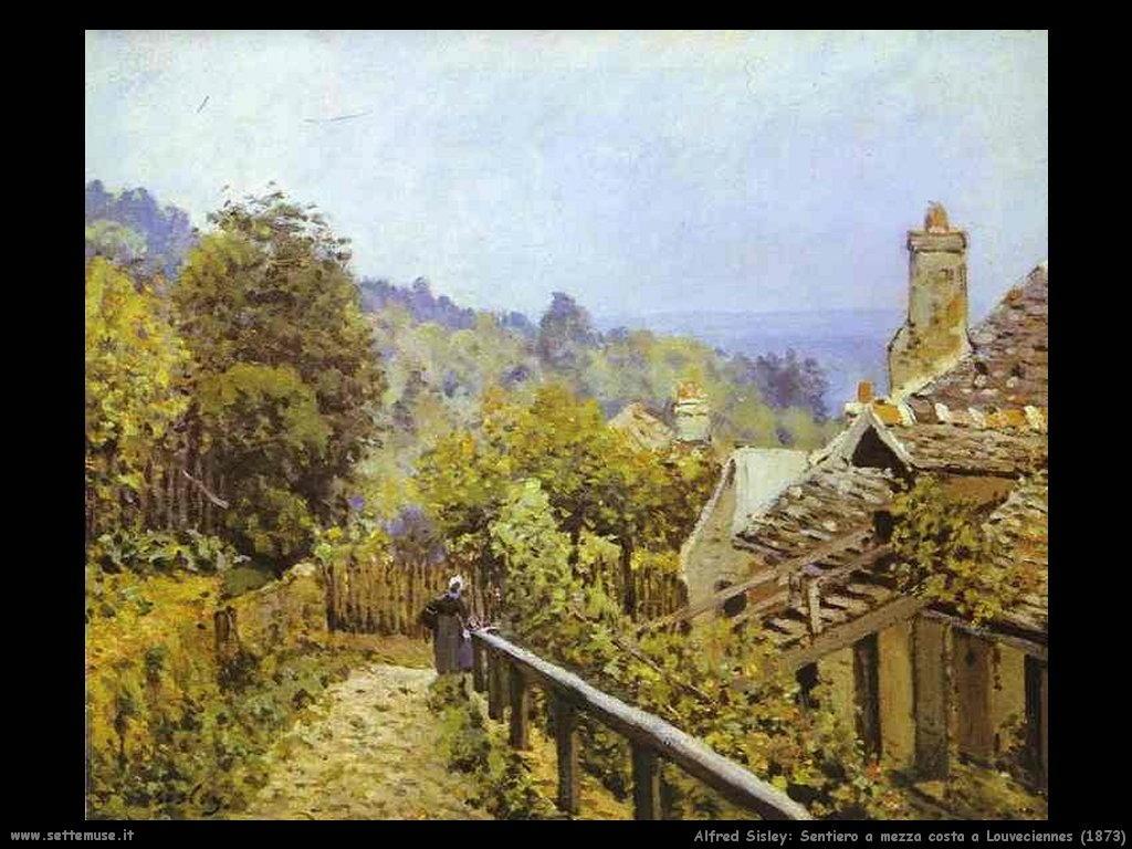Alfred Sisley_Sentiero_mezza_costa_louveciennes_1873