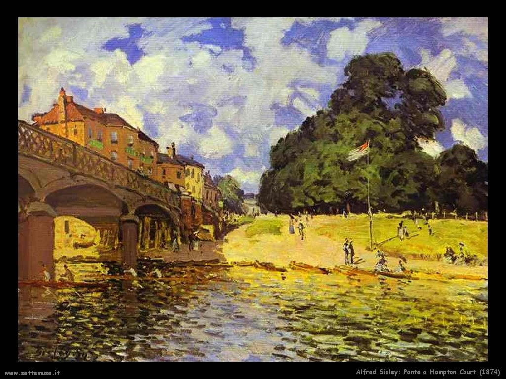 Alfred Sisley_ponte_a_hampton_court_1874