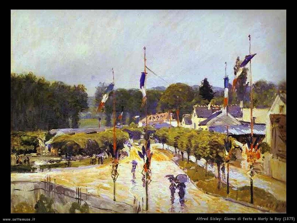 Alfred Sisley_giorno_di_festa_a_marly_le_roy_1875