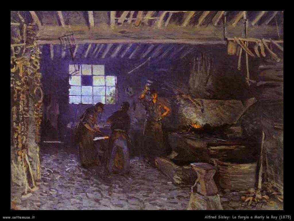 Alfred Sisley_la_forgia_a_marly_le_roy_1875