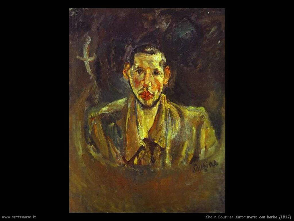 Autoritratto con barba (1917)