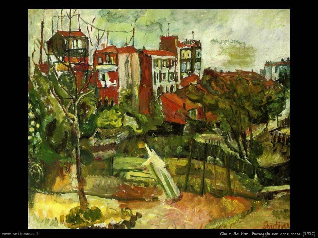 Paesaggio con case rosse (1917)