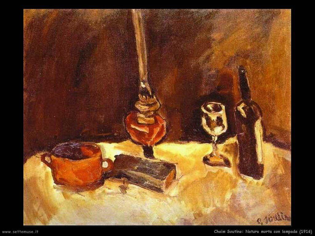 Natura morta con lampada (1916)